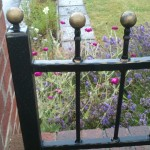 ball top wall railings
