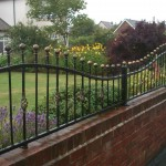 ball top wall railings full width